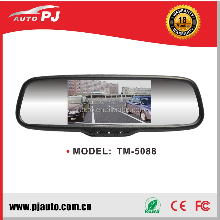 NEW 5'' Wide Screen Car Rear View Mirror with Monitor for Aftermarket (TM-5088B)