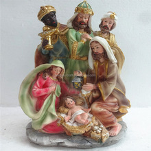 2016 polyresin religious nativity sets craft