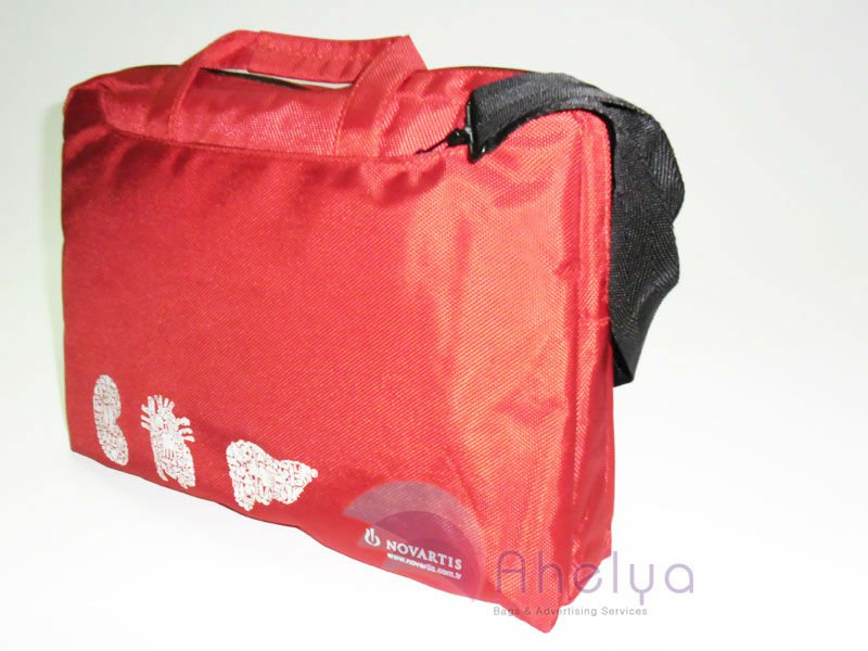 Red Novartis Laptop Bag
