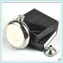 5oz Stainless Steel Liquor wine Flask shining mirror surface with Screw-On Cap DHL Free Shipping