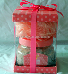 Fruit Fragrance bath salts set and bath spa gift set