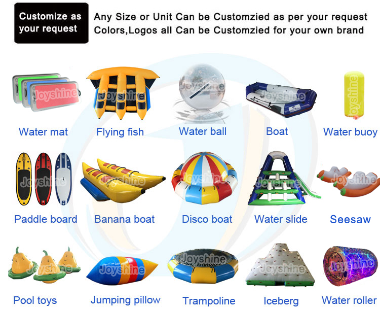 High Quality 6 Adults Water Sports Inflatable Towable Water Toys Flying Banana Boat PVC Material
