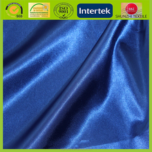 50D semi dull solid dyed sapphire blue satin fabric for luxury scarf textile