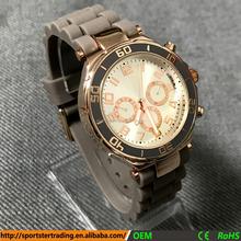Premium quality 3 eyes chronograph design gents wrist watch