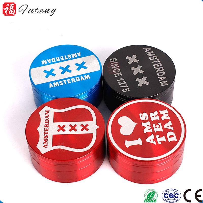EL5910 Yiwu Futeng Smoking Portable Chinese Wholesale 4 Piece Grinder Herb Custom Herb Grinder