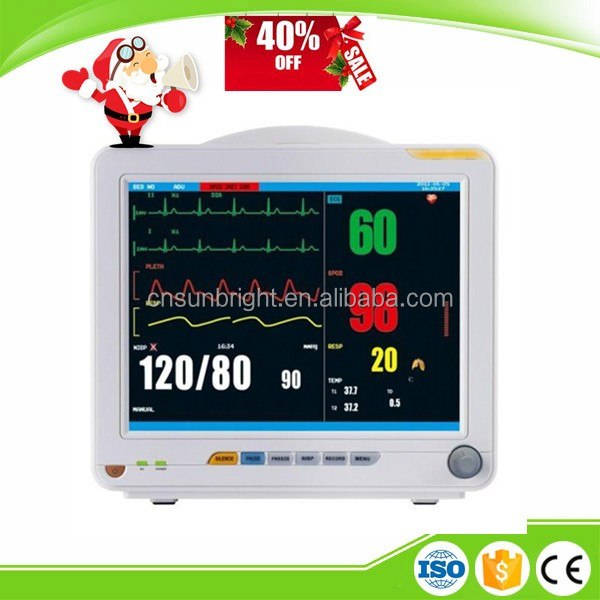 Multi-language SUN-603K Newly Medical Human Patient Monitor Portable ECG Monitor