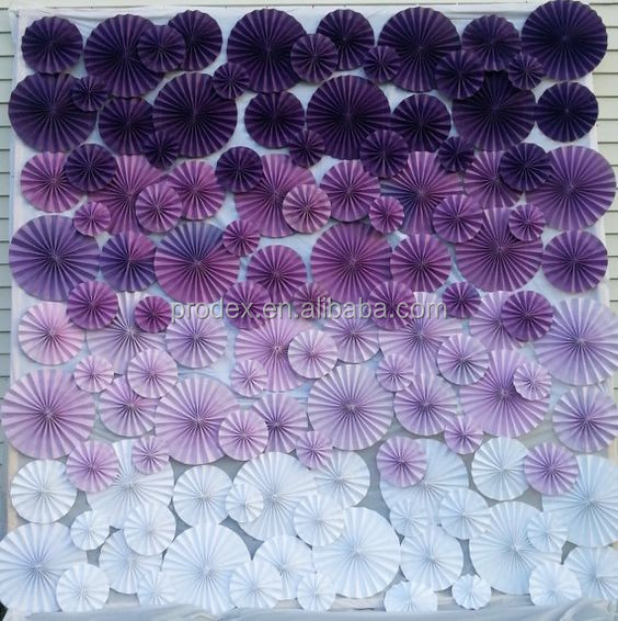 Paper folding flowers flower backdrop