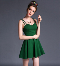 wholesale sexy backless slim fit tube evening strappy flare party slip dress