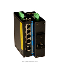 5 port Gigabit Switch with Din-rail installation and PoE function