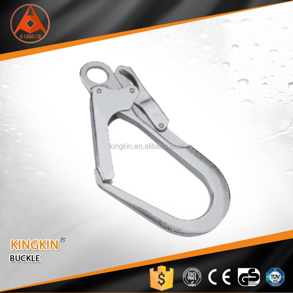 High safety harness buckle zinc plated alloy steel forged snap hook