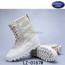 2016 Men and Women Leather Casual Shoes autumn and Winter High Cut Yeezy 950 Boots