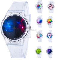 Fashion Women Transparent Clear Band Plastic Gel Watch 13 Styles Jelly Silicone Analog Sports Wrist Watch