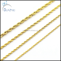 hip hop gold plated mens rope chain