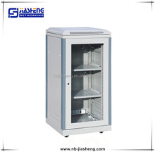 "21U network cabinet with 19"" shelf"
