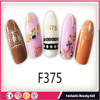 Nail art supplies 2018 Colorful cartoon pattern 3D Nail Adhesive Stickers with holiday theme for new year decorations
