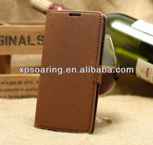 for Samsung i9600 Cross-line leather case S5 Stand pouch case
