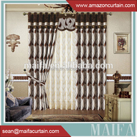 Latest curtain designs 100% polyester Hot sale for soundproof curtains