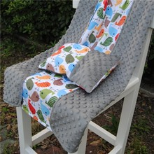 100% Polyester All Baby Love Warm Keeping Winter Minky Dot Signature Blankets