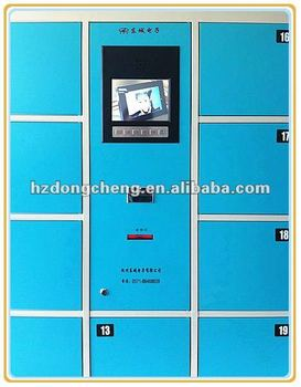 cell phone charging station touch locker