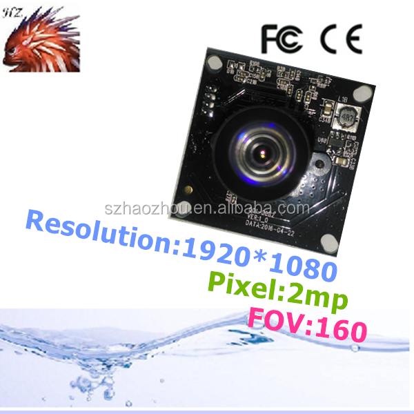 160 degree dcmi 2mp fisheye high speed omnivision 1080p wide angle hd camera module 720p