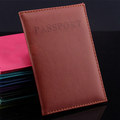 New Artificial Leather Women Passport Holder Couple Models Women's Travel Passport Cover Unisex Card Case Man Card Holder