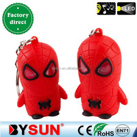Birthday gift sound led key ring cool Spiderman for boy BS-343