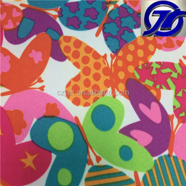 Polyester Waterproof Printed Oxford Fabric Bag Material / pvc CoatedOxfor d Fabric