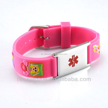 New design fashion lovely silicone rubber bracelet kids