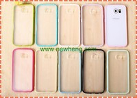 New Dual color TPU +PC Matte Hard back Case For Samsung Galaxy S6 G9200