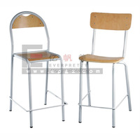 2015 Hot Sale School Classroom Lab Furniture Wooden Lab Stool with Backrest