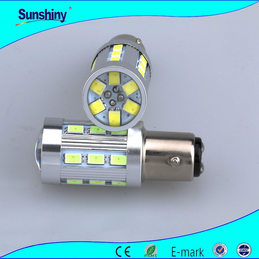 Amber led auto buick tuning light.12v high power 24 SMD 5630 1156 Led turning light for auto car motorcycle truck