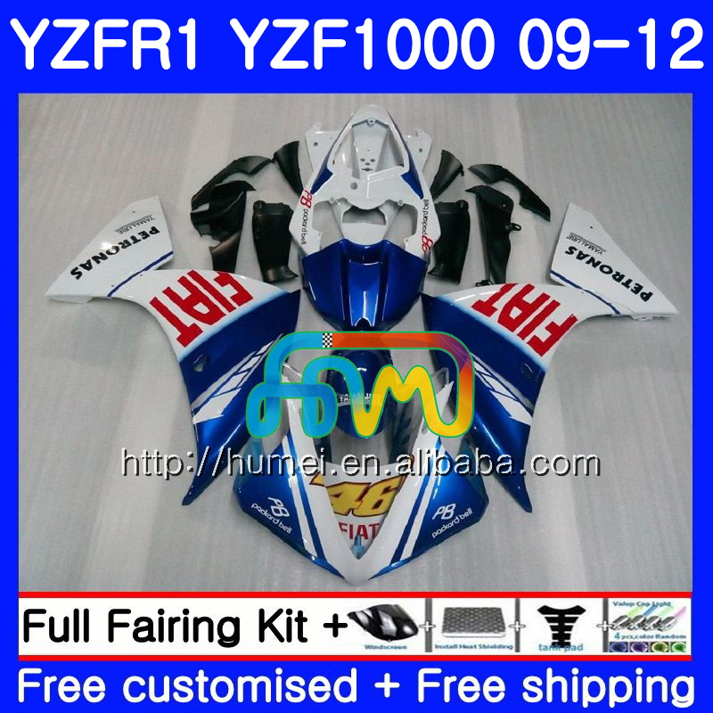 Body For YAMAHA YZF-<strong>R1</strong> blue white YZF1000 R 1 YZF-1000 104HM27 YZF 1000 YZF <strong>R1</strong> <strong>09</strong> 10 11 12 YZFR1 2009 2010 2011 2012 Fairing