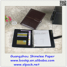 factory direct sale a5 pu / genuine leather executive notebook cover