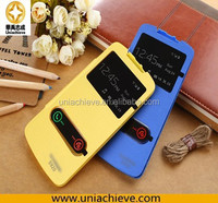 For Lenovo S920 case, shell Fold PC Back Cover+Double Window view Front Leather skin Case For Lenovo S920