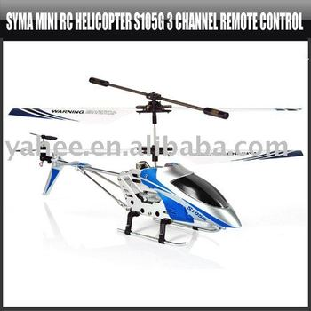 Syma Mini RC Helicopter S105G 3 Channel Remote Control,YHA-HE012