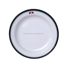 OEM service Factory made New Melamine 3 Section Round Plate
