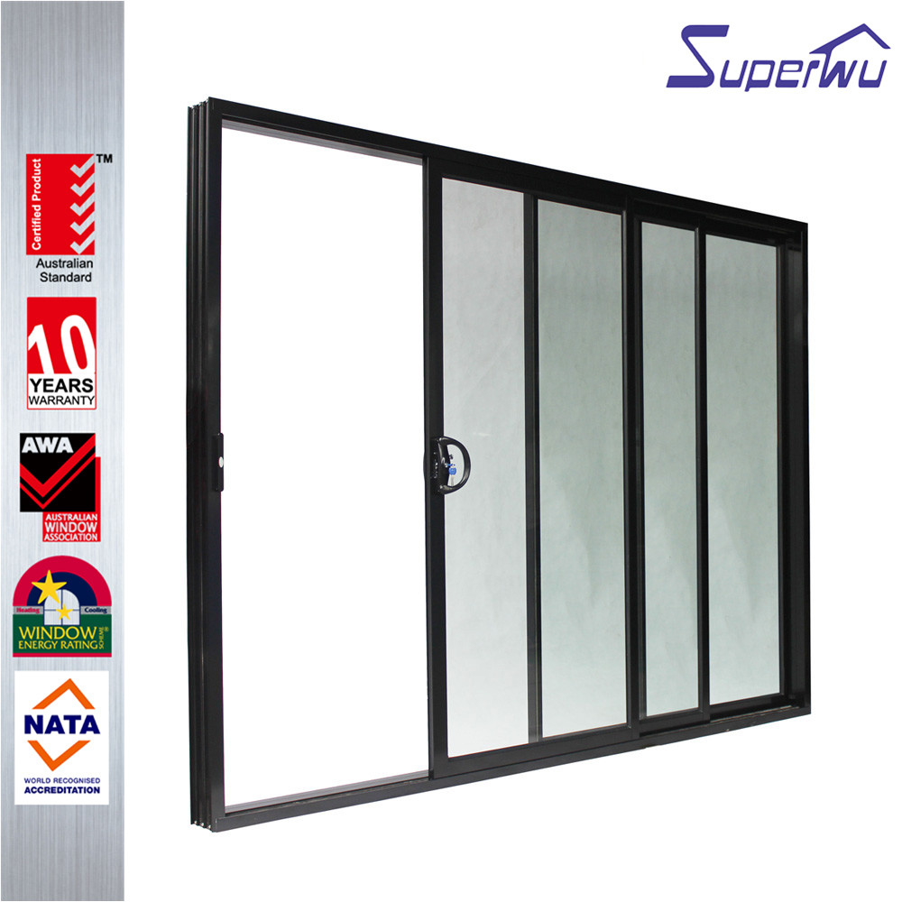 China Manufacturer AS2047 Four Meter Of Aluminum Folding Stacking Door Price Glass