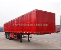 3 axles cargo box van carrier truck semi trailer for sale with good price