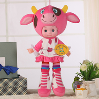 hot sale plastic fashion doll, wholesale china, pvc children toys cow doll