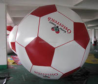 Floating Soccer Shape Helium Balloons, Custom Inflatable Football Balloon