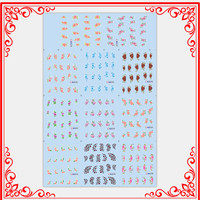 BLE1236-BLE1246 New Flower Water Transfer Sticker Nail Art Decals Nails Wraps Temporary Tattoos Watermark