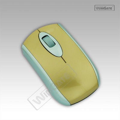 New design Flat Panel Optical Mouse mice For laptop YELLOW