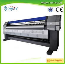 Advertising large format vinyl eco solvent printer/yinghe 3.2m double heads outdoor ECO solvent printer with best price.