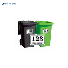 Super extra large printed bin label sticker,adhesive bin sticker,wheelie bin sticker