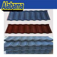 Professional manufacturer and exporter blue terracotta metal roof tile, stone coated steel tile
