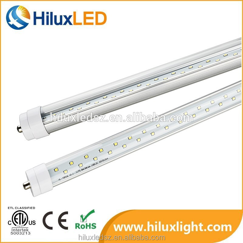 high quality 8 FT Led T8 Tube Light Single Pin External Driver UL made in China