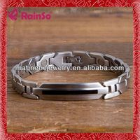 316L stainless steel Germanium Ion Energy Balance Sport hammered rainso cuff bracelet