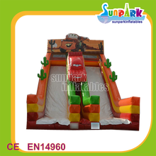 High Quality Commercial Inflatable Toy Indoor Plastic Car Slide for Kids