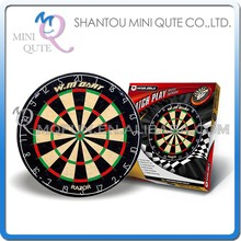 MINI QUTE Indoor Fun & Sports 18 inch wholesle bar party target classical bristle darts board with 6 darts game NO. WMG11504