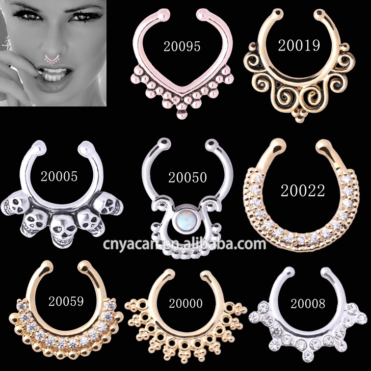 Direct Wholesale Fake Septum Rings Free Body Jewelry Sample